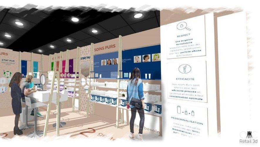 La marque Etat Pur s'installe dans la galerie commerciale Saint-Lazare du 16 octobre au 30 janvier prochains.