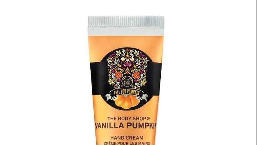 Crème pour les mains Vanilla Pumpkin chez The Body Shop.