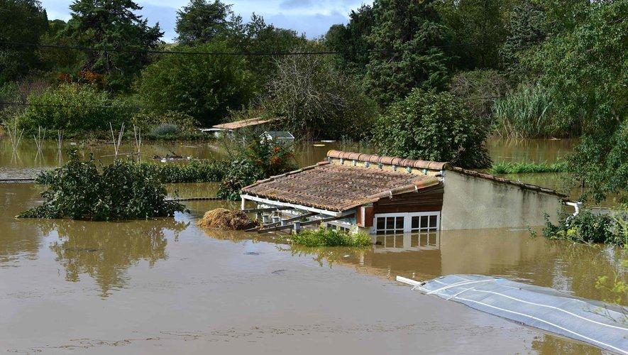 Inondations dans l'Aude : un drone filme des images impressionnantes