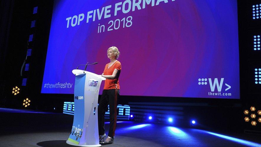 Virginia Mouseler, la patronne de The Wit, au Mipcom 2018