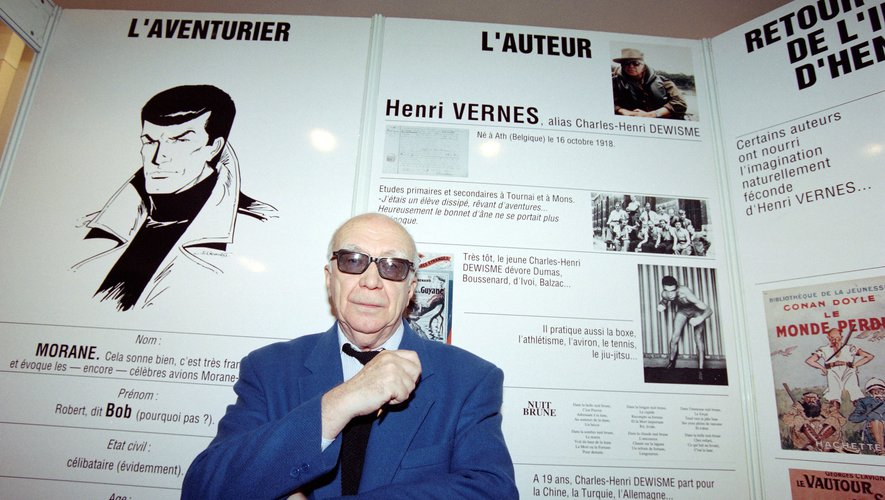 Henri Vernes, le créateur belge de Bob Morane, fête son 100e anniversaire