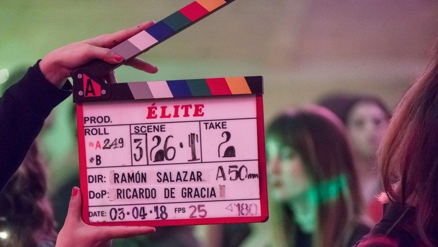 """Maria Pedraza, Miguel Herrán et Jaime Lorente, les acteurs de """"La Casa de papel"""" s'étaient retrouvés pour la première saison de """"Elite""""."""
