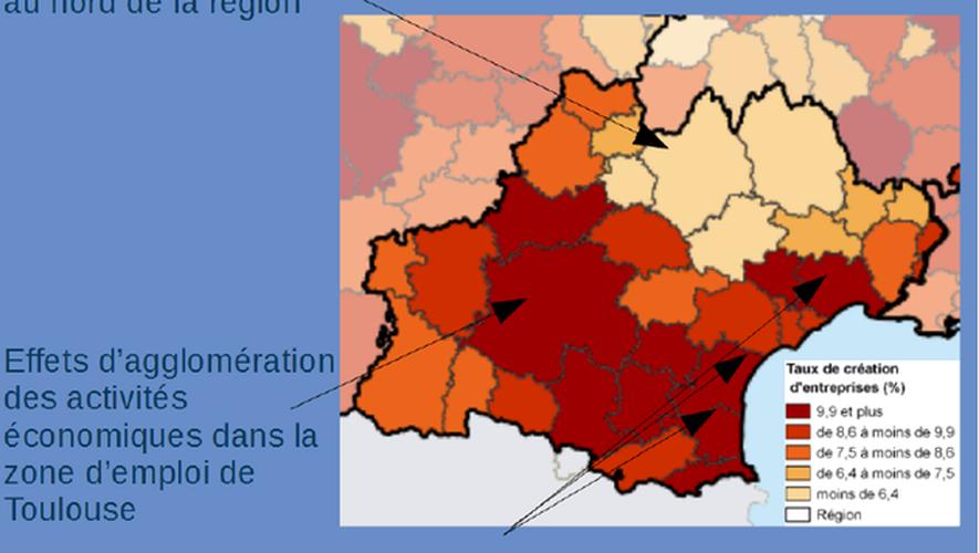 L'Aveyron et la Lozère affichent les taux les plus bas de créations d'entreprises.