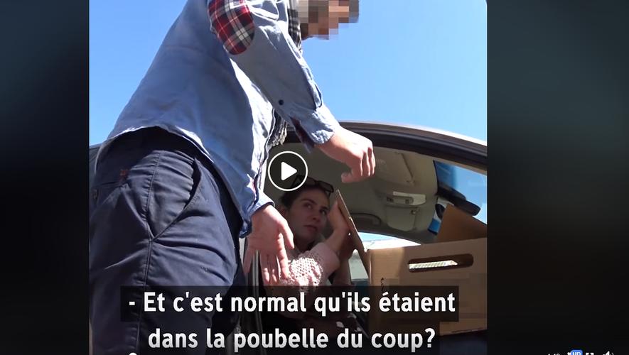 Capture d'écran de la vidéo diffusée sur Facebook par L214.