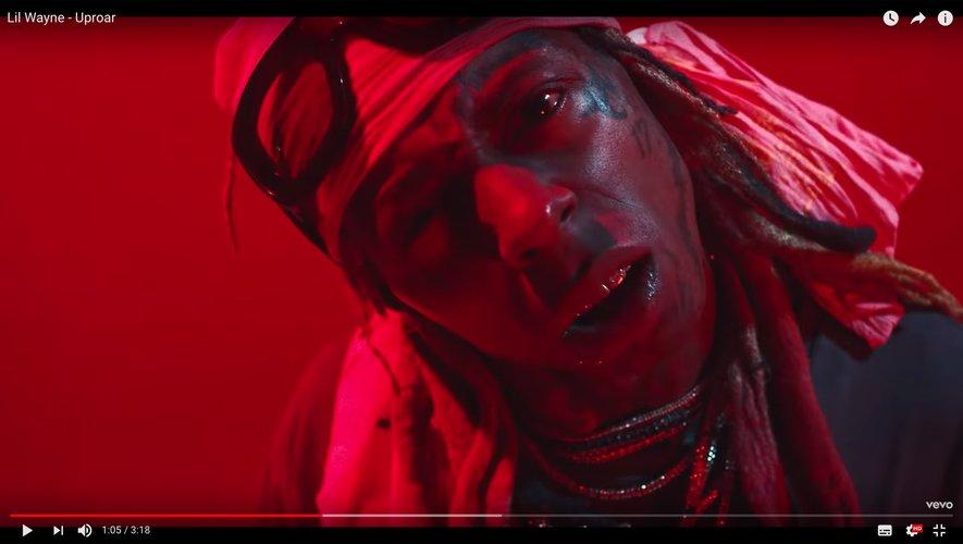"""Lil Wayne dans son dernier clip """"Uproar""""."""