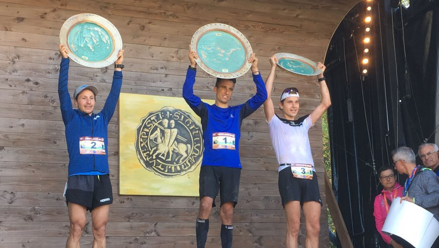 Le podium final du grand trail des Templiers.