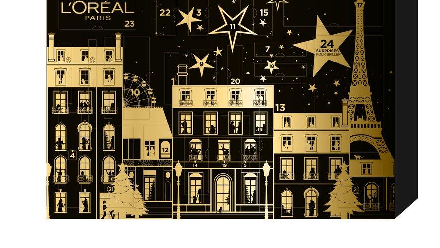 Le calendrier de l'Avent L'Oréal Paris - Prix : 75€ - Site : www.loreal-paris.fr.