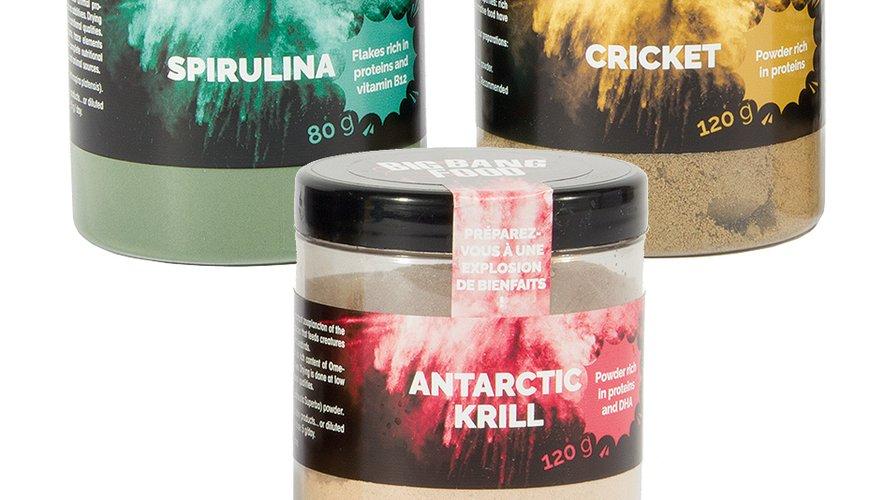 De la poudre de criquet ou de krills pour faire le plein de protéines