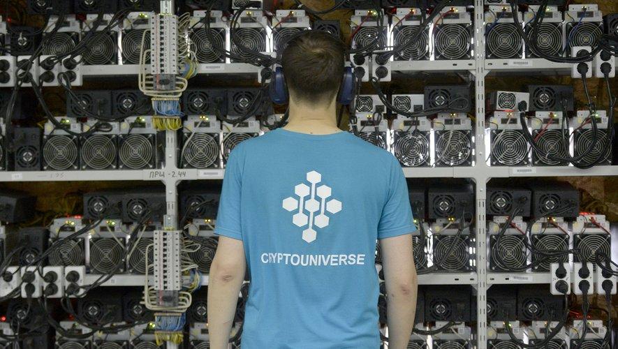"""C'est dans les anciens locaux d'une banque transformés en espace ultra-moderne qu'a ouvert en février la boutique """"DeeCrypto"""""""
