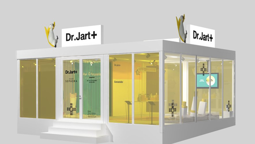 Dr Jart+ ouvre un pop-up store sur le parvis de la gare Saint-Lazare.