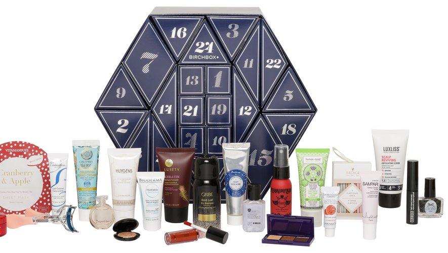 Le calendrier de l'Avent Birchbox - Prix : 59€ - Site : www.birchbox.fr.