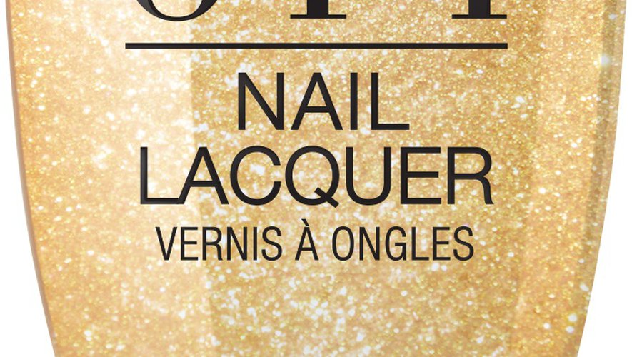 """Le vernis à ongles """"Dazzling Dew Drop"""" issu de la collection """"OPI x Casse-Noisette""""."""