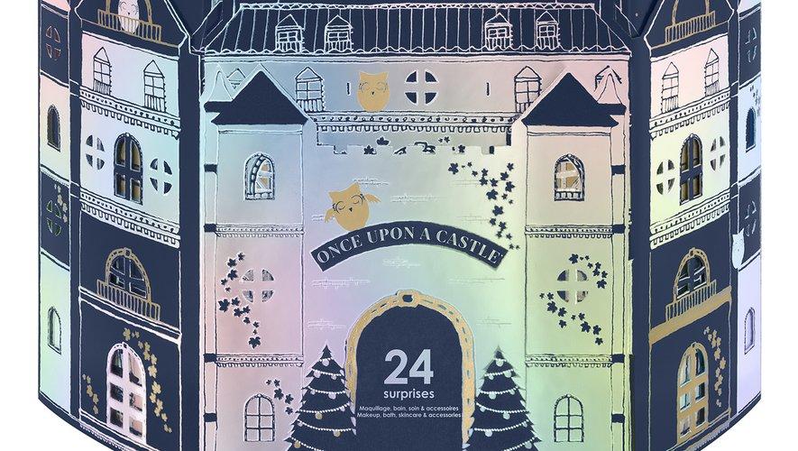 """Le calendrier """"Once Upon A Castle"""" de Sephora - Prix : 29,99€ - Site : www.sephora.fr."""