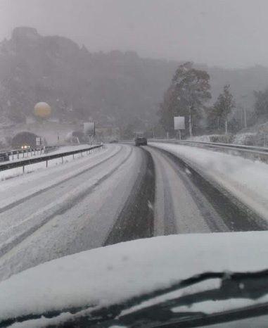 Neige en Aveyron : circulation très difficile sur l'A75