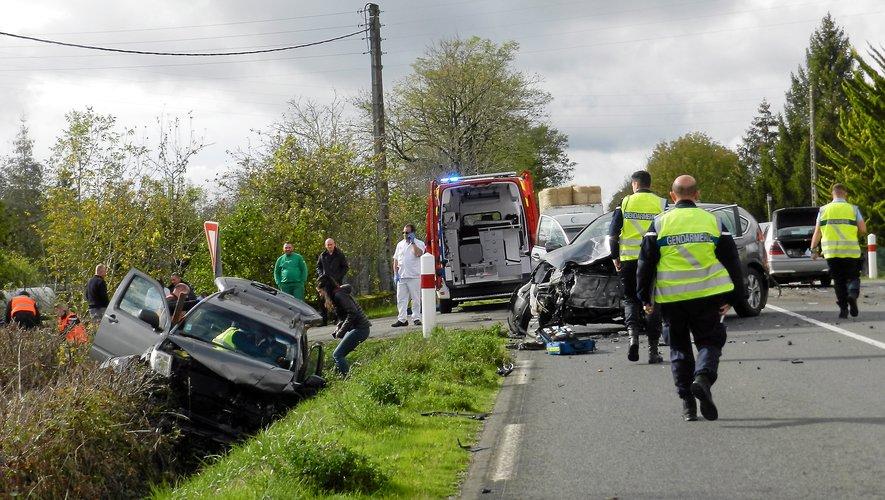 Accrochage entre trois véhicules du côté de Savignac.