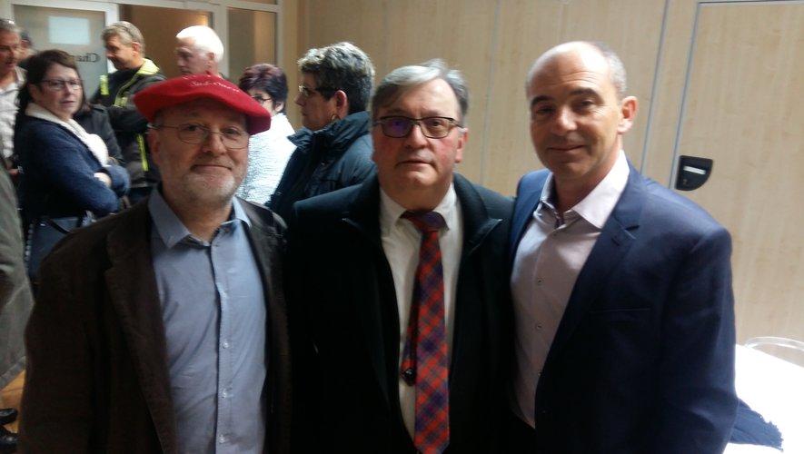 Jean-Michel Dexidour, Alain Vieilledent et le président Philippe Coy.