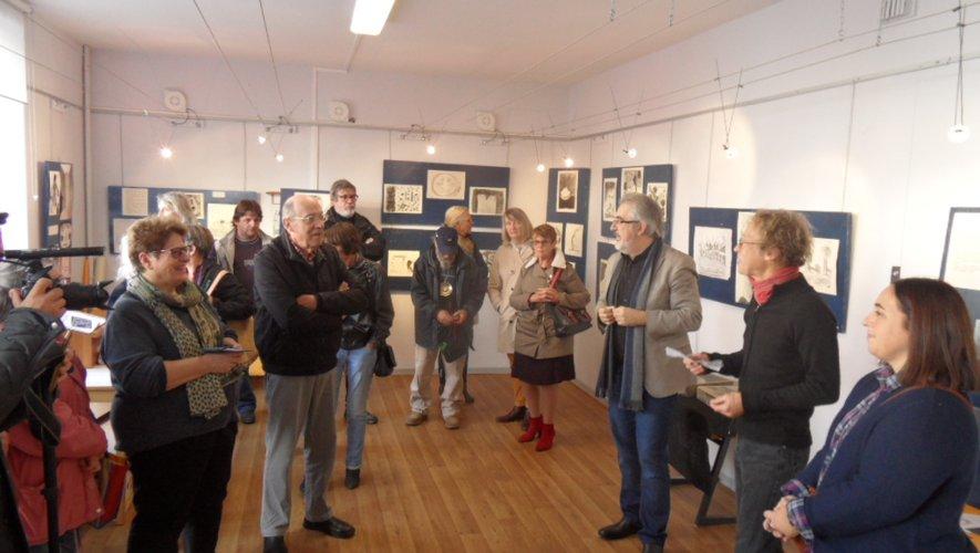 Olivier Guimbert  a présenté l'exposition  à la Quincaillerie.