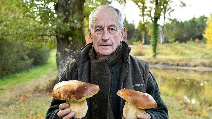 Jean-Pierre Biaussa, éleveur de bovins retraité converti à la sylviculture et depuis peu à l'étude quasi scientifique du cèpe de Bordeaux