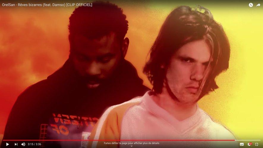 "OrelSan dans son dernier clip ""Rêves bizarres"" avec Damso."