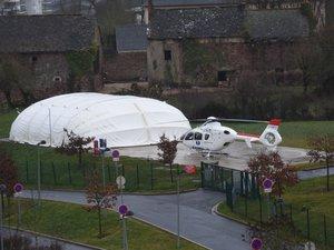 L'hélicoptère est intervenu sur l'accident.
