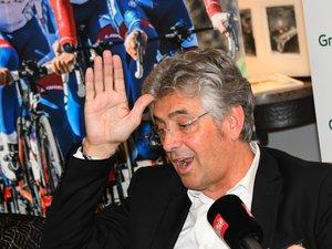 Marc Madiot, le manager de l'équipe cycliste Groupama-FDJ, était présent mercredi à Rodez.