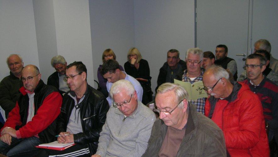 Neuf des dix  sociétés du district étaient bien représentées à cette assemblée générale.