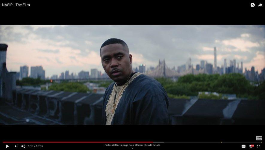 "Nas dans sa vidéo ""NASIR - The Film"" sur youtube"