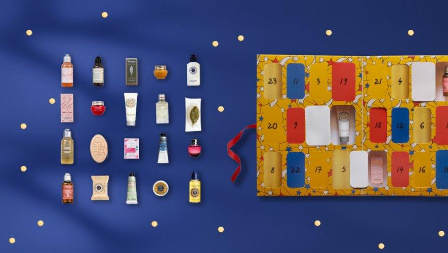 Le calendrier de l'Avent beauté personnalisable de la marque L'Occitane.