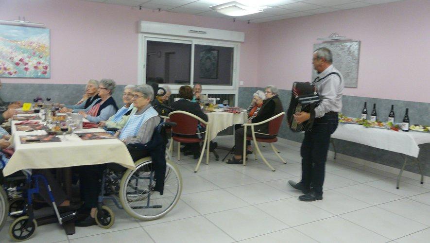 Beaujolais et accordéon, ont rythmé la soirée