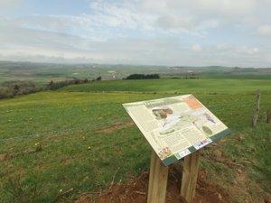 Une table de lecture du paysage à la tourbière de Mauriac