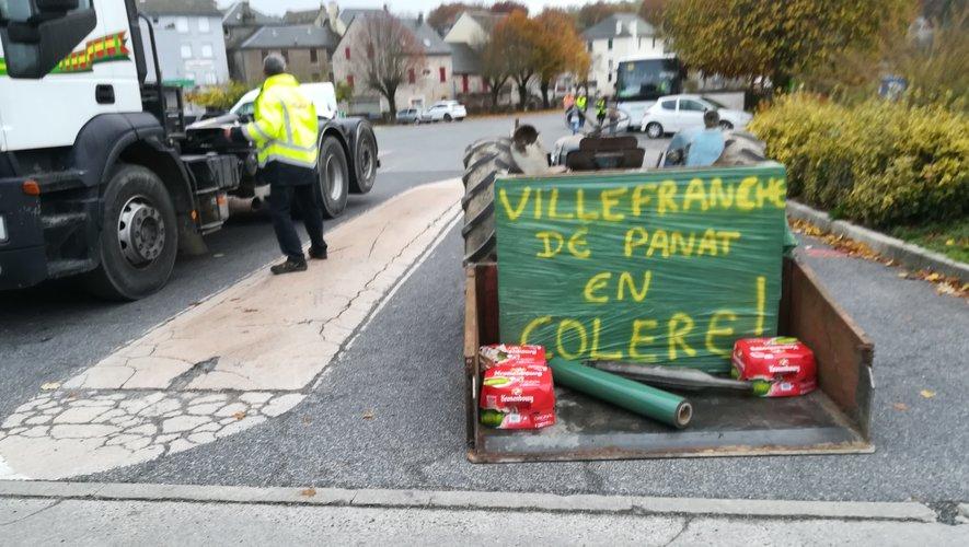 """A Villefranche-de-Panat, les """"gilets jaunes"""" ont exprimé leur colère."""