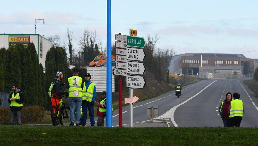 Il était très difficile samedi de se rendre sur les zones commerciales aux abords de Rodez.