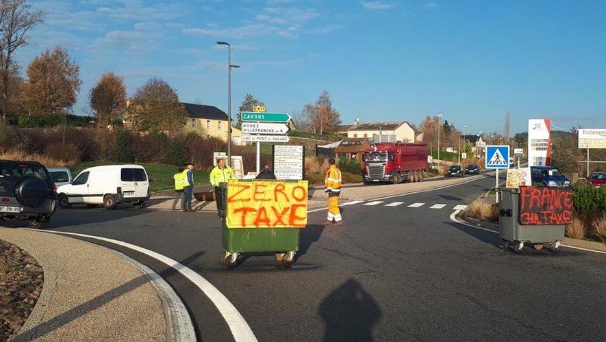 Mobilisation ce lundi matin à Pont-de-Salars.