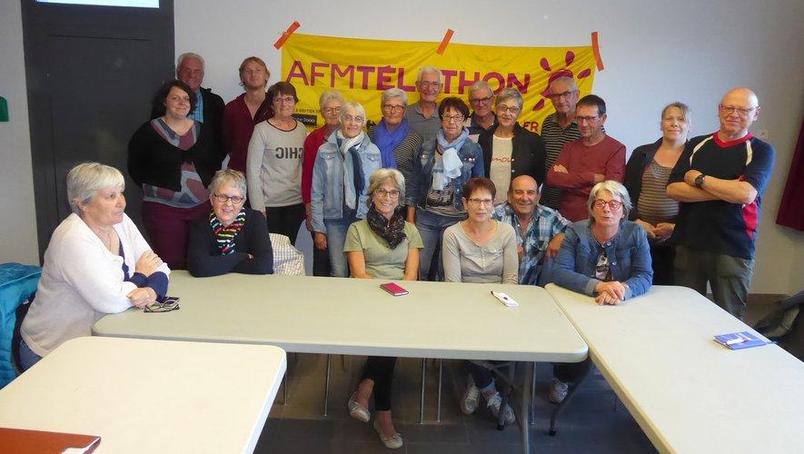 Les organisateurs locaux du Téléthon aux côtés de Maryse Vacquier, déléguée locale.
