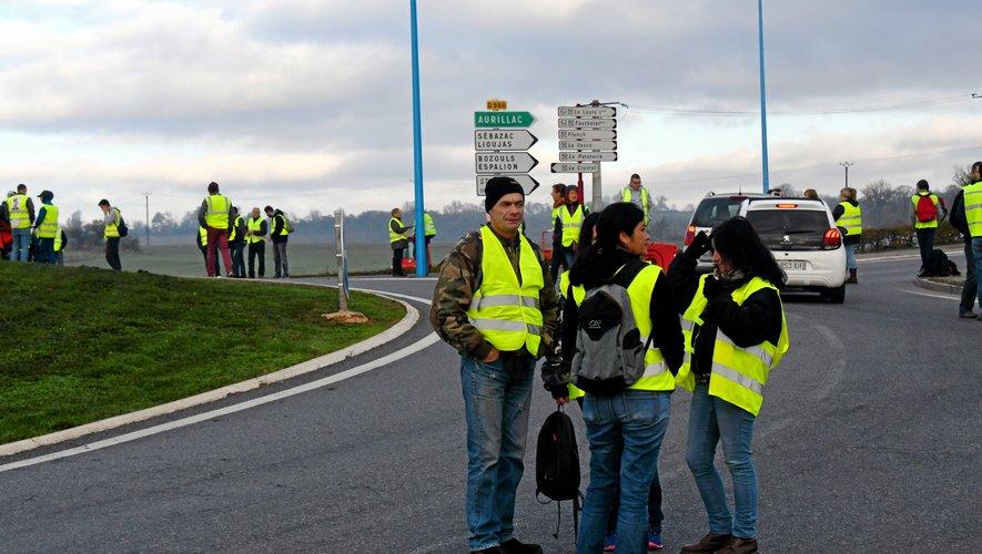 Gilets jaunes : neuf points de blocage ce mardi matin en Aveyron