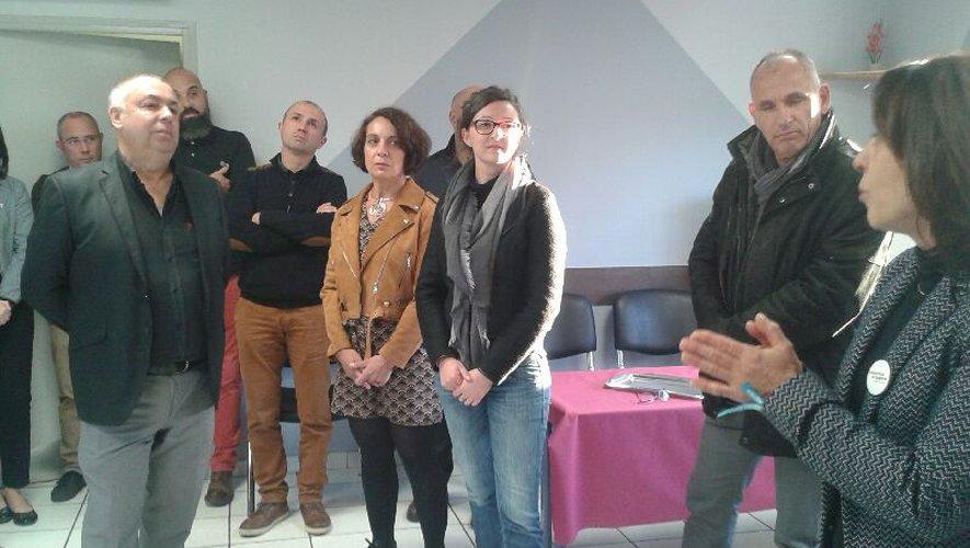 Audrey, avec à sa gauche son employeur, Michel Gayraud, à la tête du CFCNA, basé à Ste-Radegonde.