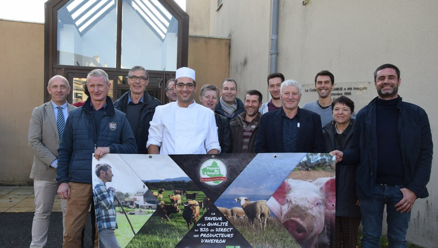 Les éleveurs en bio ont présenté leur association au collège de Baraqueville.