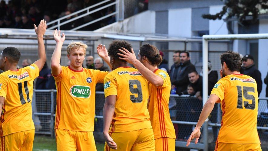 Les Ruthénois ont battu Luzenac (5-2) au 7e tour, dimanche.