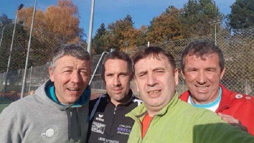 Romain Boutonnet, David Labit, Eric Carrara et Bruno Arguel qui ont battu Caussade 4 à 1.