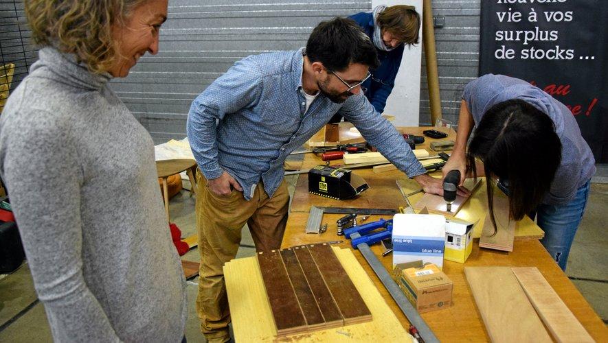 Des ateliers sont organisés jusqu'au samedi 24 novembre au Salon du réemploi à Druelle.