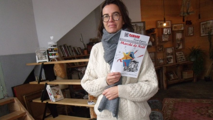 Magali Vermeersch prépare « son » marché de Noël.