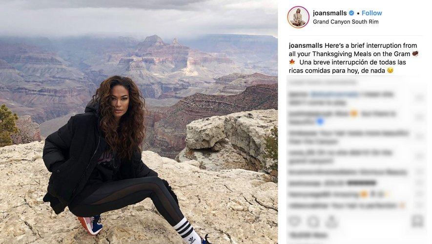 Joan Smalls sur Instagram 2018