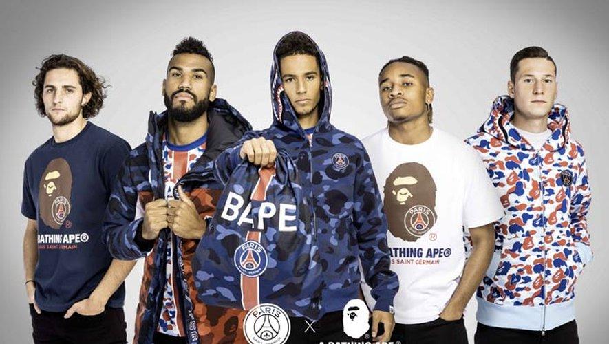 La marque BAPE signe une collection aux couleurs du Paris Saint-Germain.