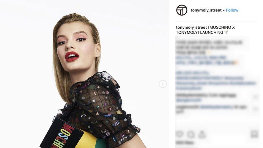 Collaboration Tonymoly avec Moschino avec Instagram 2018