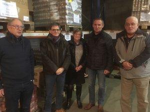 Des bénévoles des Restaurants du cœur réunis autour de Sébastien Viguier (2e à droite), responsable départemental.