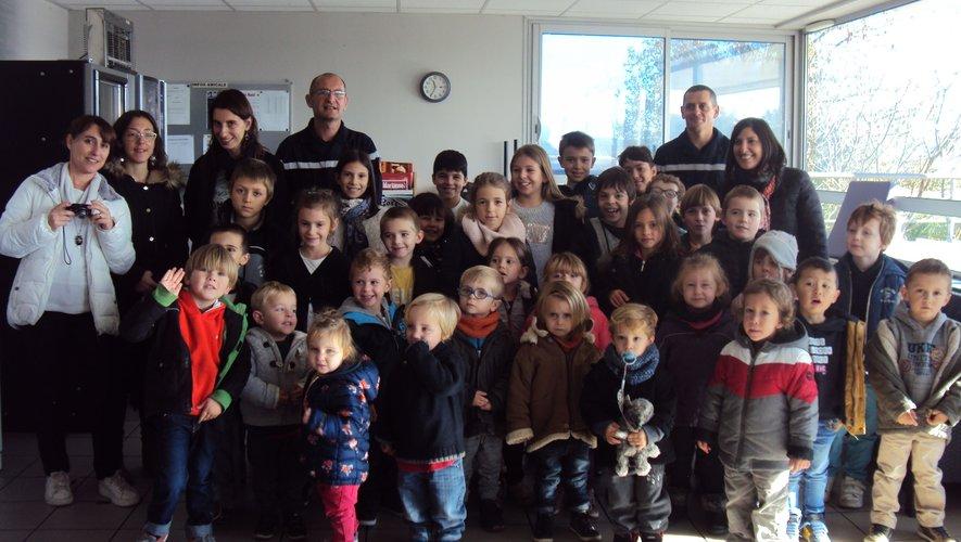 Les écoliers ont rendu visite aux pompiers