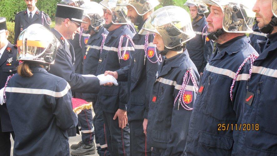 Des médailles ont été remises et certains ont été promus au grade supérieur.