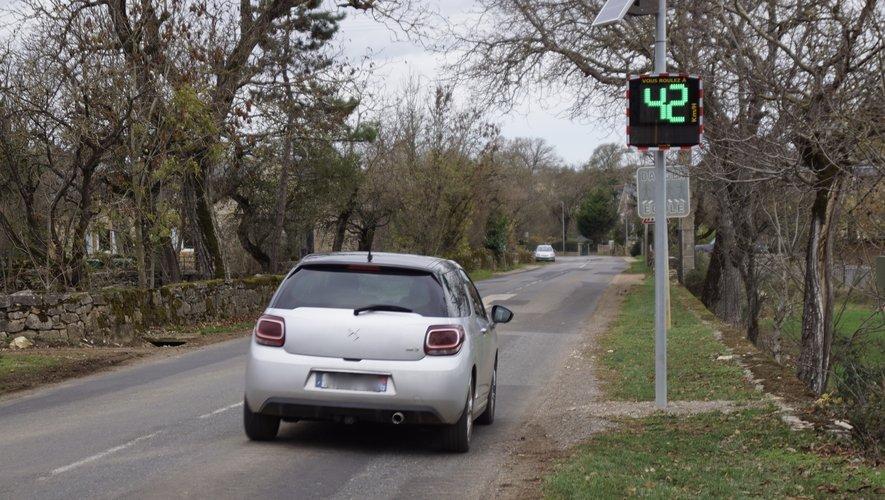 L'entrée du village de Bezonnes pour une vitesse respectée.