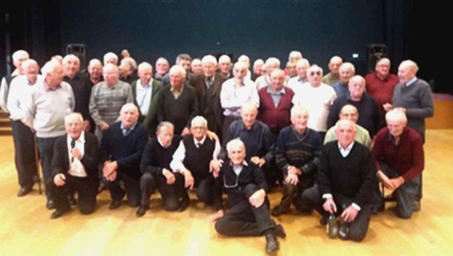 Les membres du comité de la Fnaca au repas lors de la commémoration du centenaire de l'armistice du 11 Novembre.