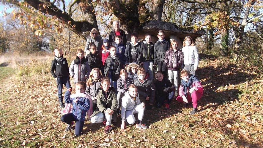 Les CM 1 de l'école publique de sortie au musée archéologique